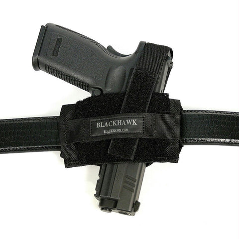 Blackhawk Nylon Ambidextrous Flat Belt Holster Black