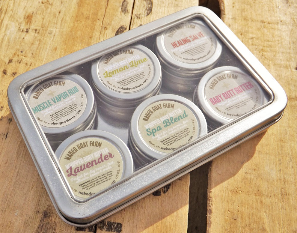 Body Butter/ Salve Sampler Pack - nakedgoatfarm