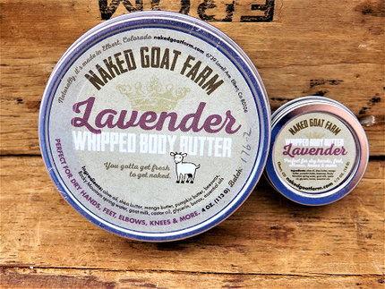 Whipped body butter Lavender 4 oz - nakedgoatfarm