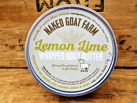 Whipped body butter Lemon Lime 4 oz - nakedgoatfarm