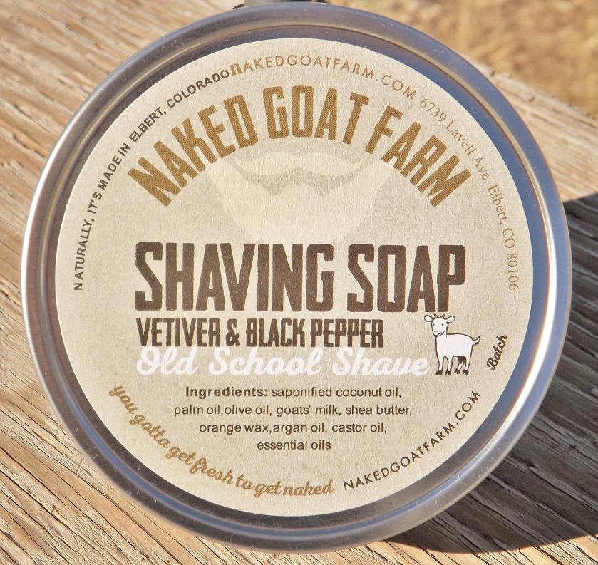 Men's Shaving Soap Tin - nakedgoatfarm