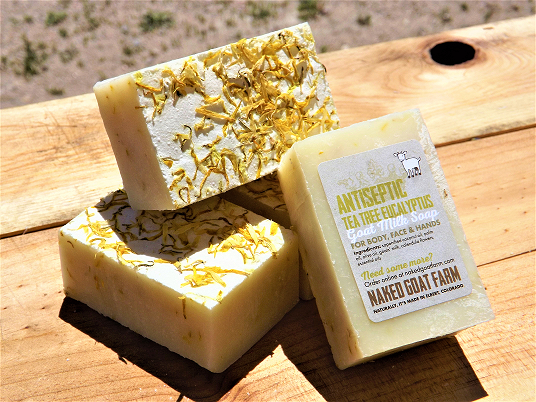 Goat Milk Soap Antiseptic - nakedgoatfarm