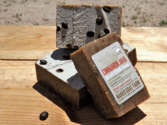 Goat Milk Soap Cinnamon Java - nakedgoatfarm