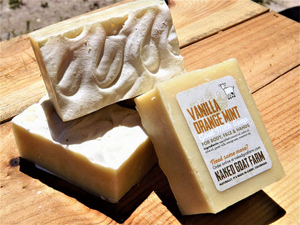 Goat Milk Soap Vanilla Orange Mint - nakedgoatfarm