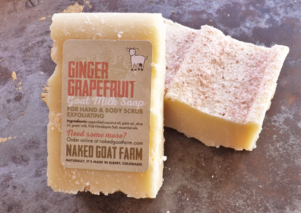 Goat Milk Soap Ginger Grapefruit Salt