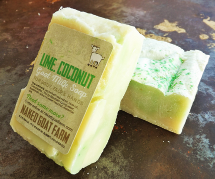 Goat Milk Soap Lime Coconut