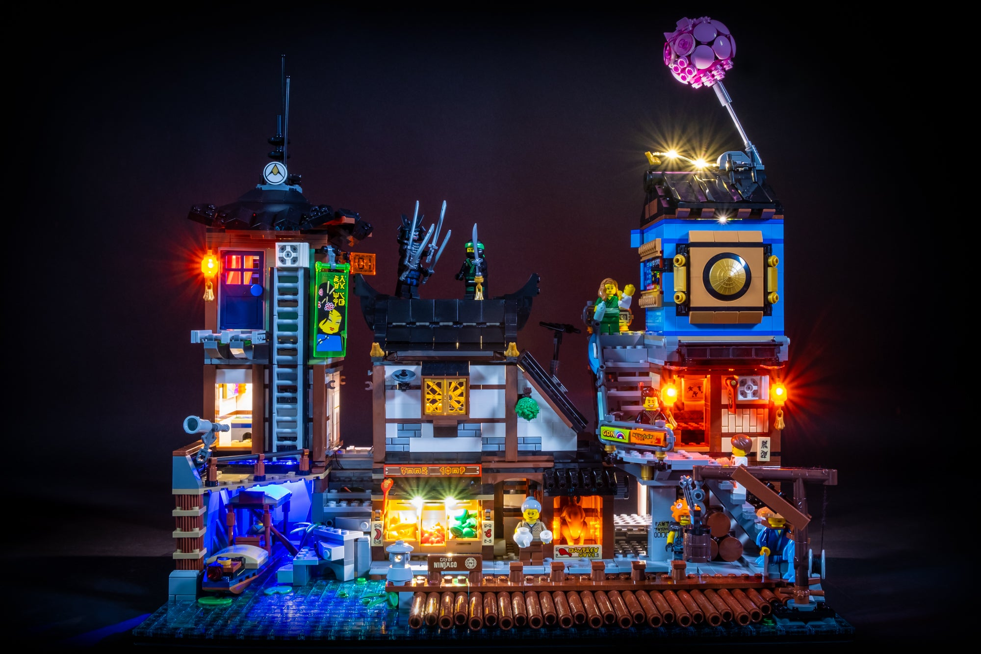LEGO Ninjago City Docks 70657 Review & Lighting Journal