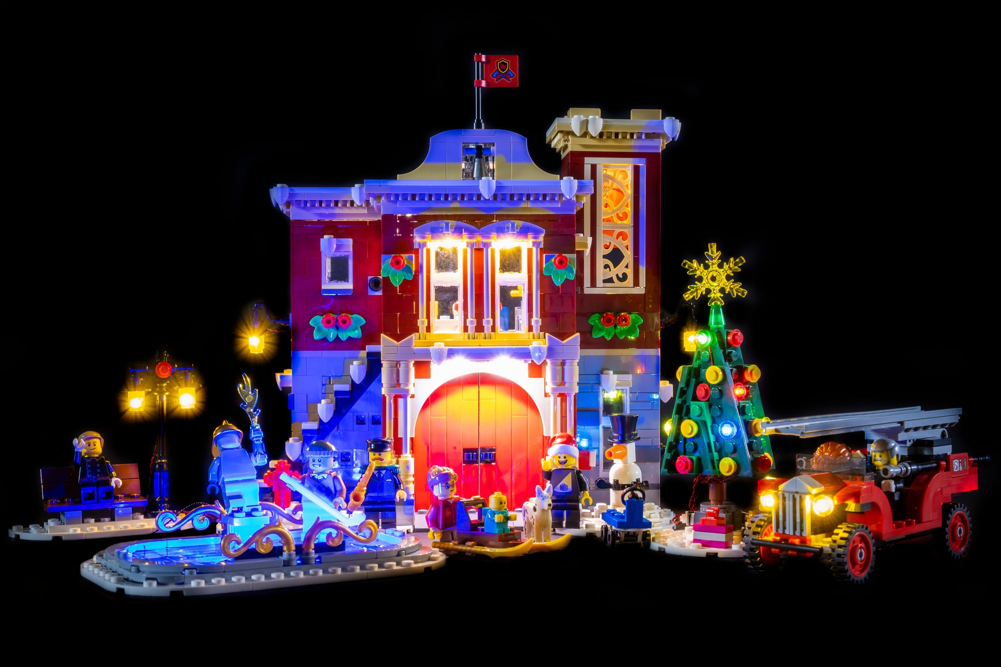 LEGO Winter Village Fire Station 10263 Review & Lighting Journal