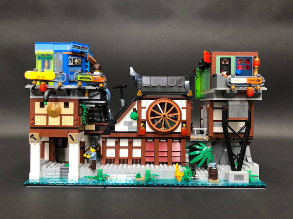 Ninjago City Docks half built