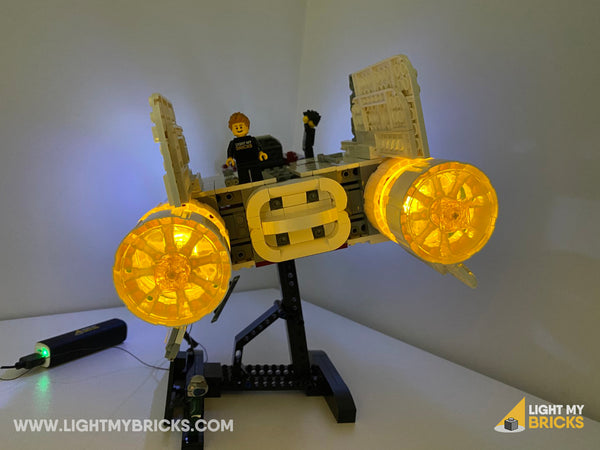 LEGO UCS A-Wing with lights on