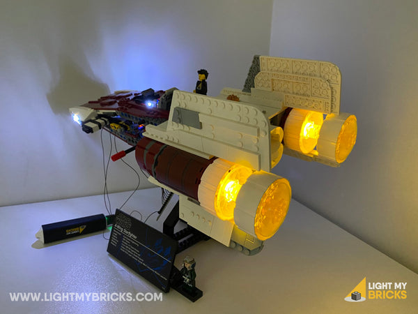 LEGO UCS A-Wing complete with lights