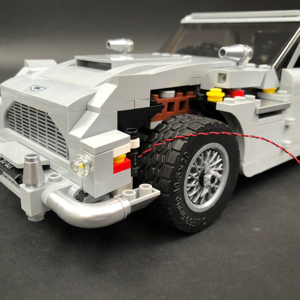 Lighting the Aston Martin DB5 LEGO front headlights