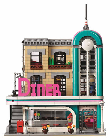 LEGO Downtown Diner 10260 Front View