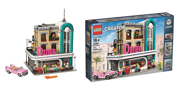 LEGO Downtown Diner 10260 Model and Box
