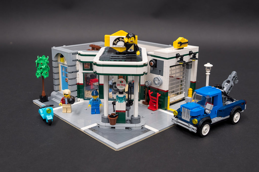 LEGO Corner Garage Ground Floor Build