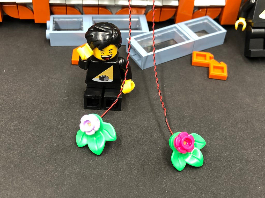 LEGO Corner Garage 10264 Flower Lights