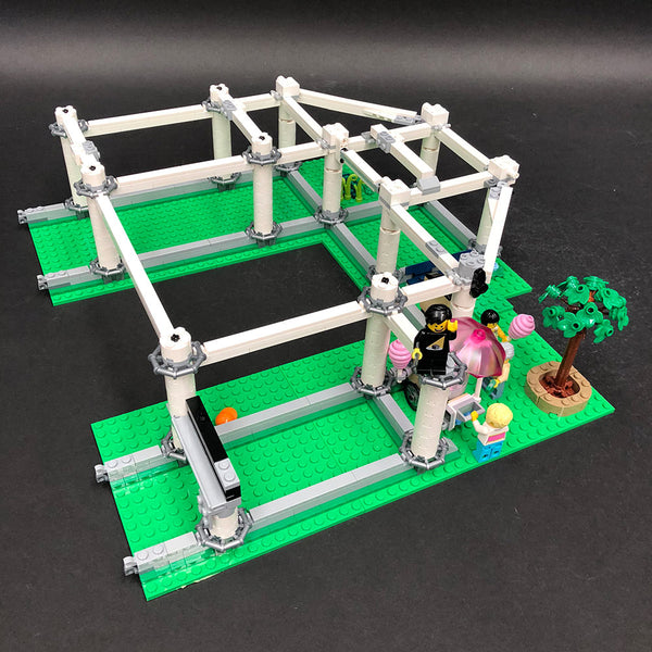 LEGO Roller Coaster Lattice Structure