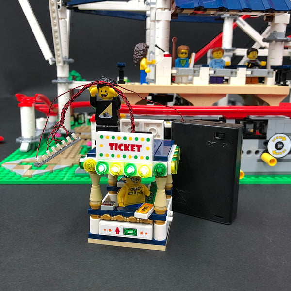 LEGO Roller Coaster Ticket Booth with Lights