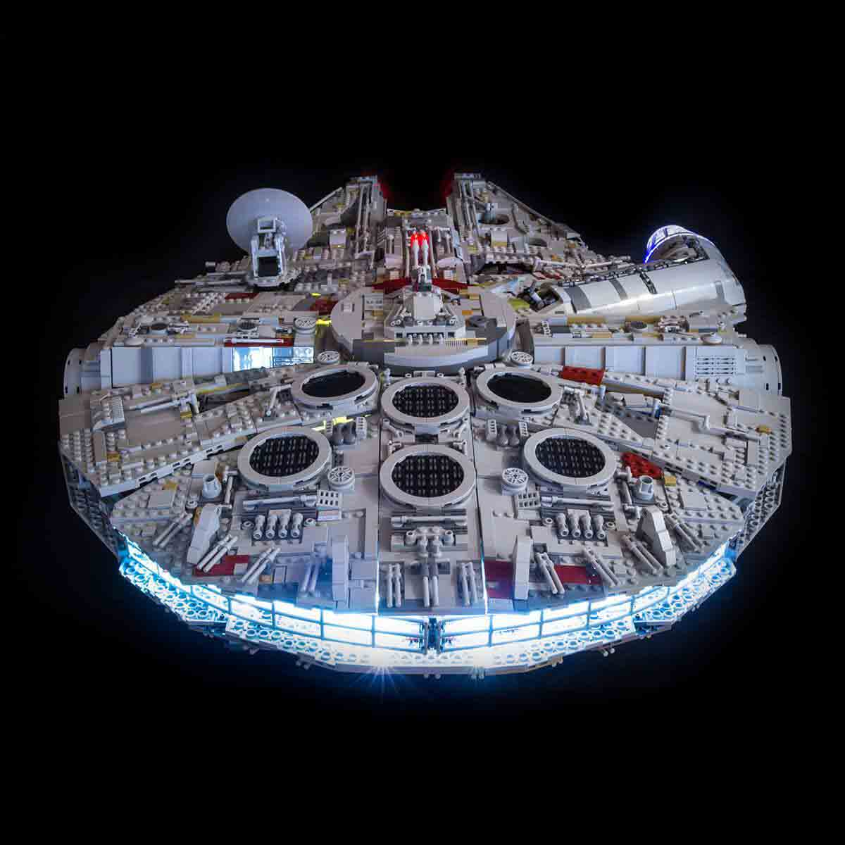 Light My Bricks lights applied to UCS Millennium Falcon 75192