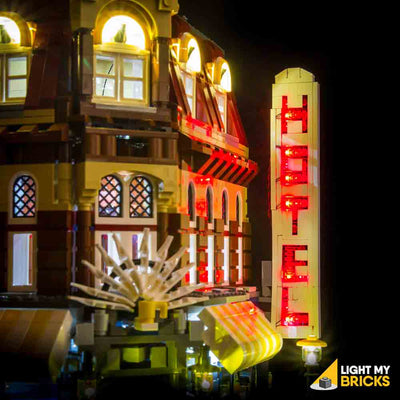 LEGO LED Light Kit for 10182 Cafe Corner Hotel Sign