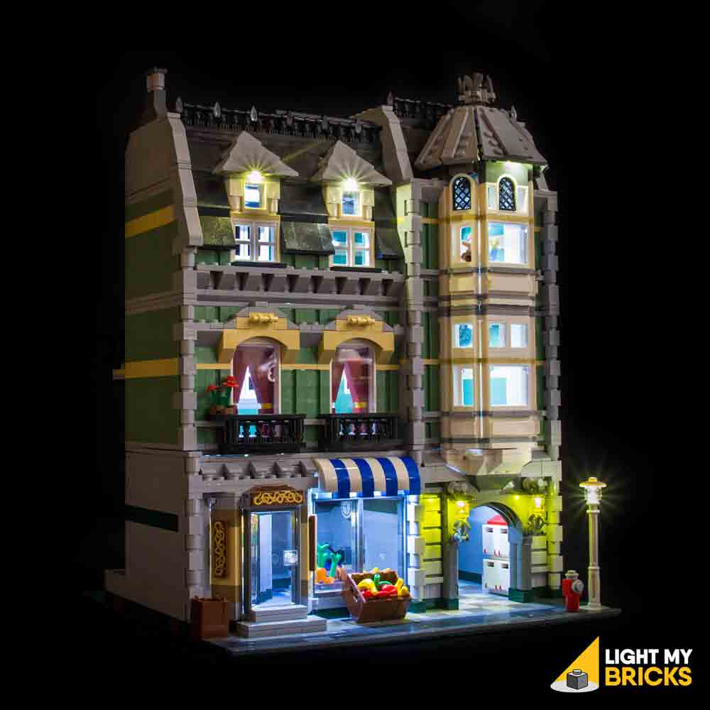 LEGO LED Light Kit for 10185 Green Grocer Front