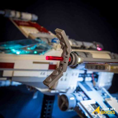 LEGO LED Light Kit for 10240 Star Wars UCS X-wing Starfighter Close Up