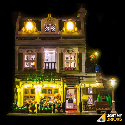 LEGO LED Light Kit for 10243 Parisian Restaurant Front