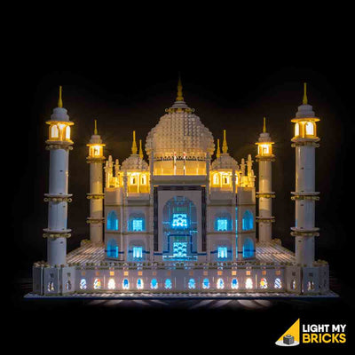 LEGO LED Light Kit for 10256 Taj Mahal Front Blue
