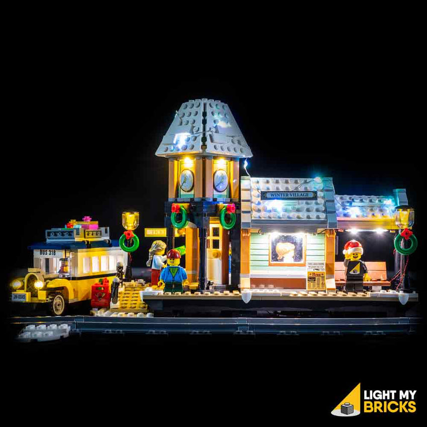 LEGO LED Light Kit for 10259 Winter Village Station Straight On