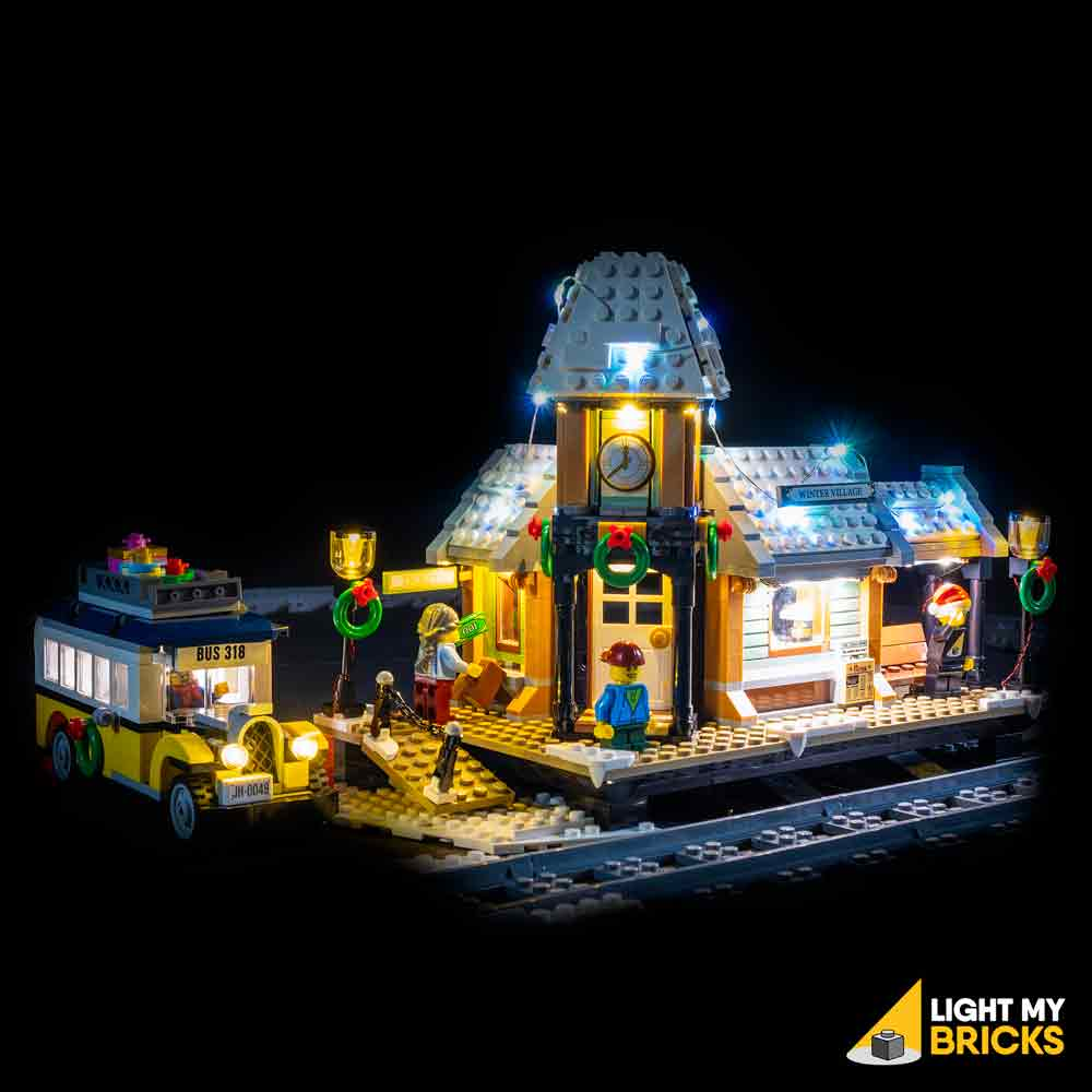 LEGO LED Light Kit for 10259 Winter Village Station Front