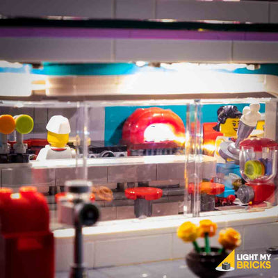 LEGO LED Light Kit for 10260 Downtown Diner Inside