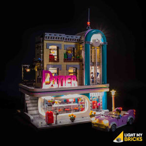 LEGO LED Light Kit for 10260 Downtown Diner Front