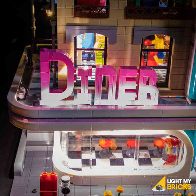 LEGO LED Light Kit for 10260 Downtown Diner Sign
