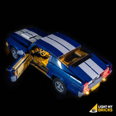 LEGO LED Light Kit for 10265 Ford Mustang GT Car Door Top