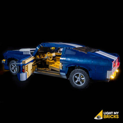 LEGO LED Light Kit for 10265 Ford Mustang GT Car Door Side Door Open