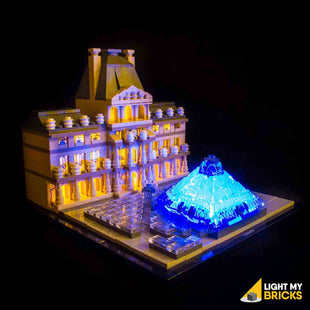 LEGO LED Light Kit for 21024 Lourve Front