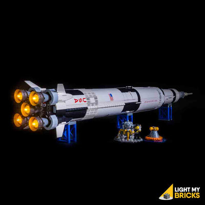 LEGO LED Light Kit for 21309 NASA Apollo Saturn V Complete Side