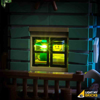 LEGO LED Light Kit for 21030 Old Fishing Store Close Up