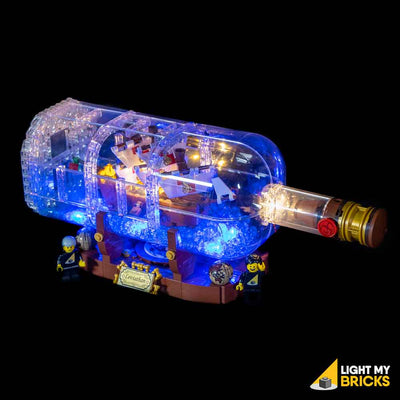 LEGO LED Light Kit for 21313 Ship In A Bottle Side
