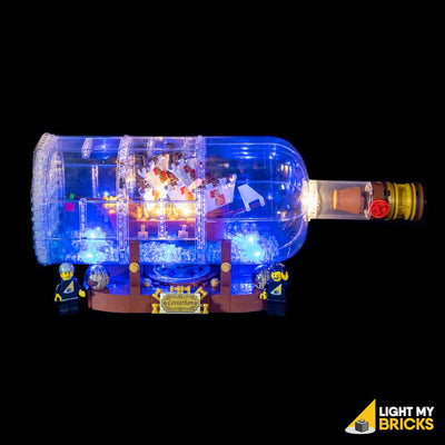 LEGO LED Light Kit for 21313 Ship In A Bottle Side Angle