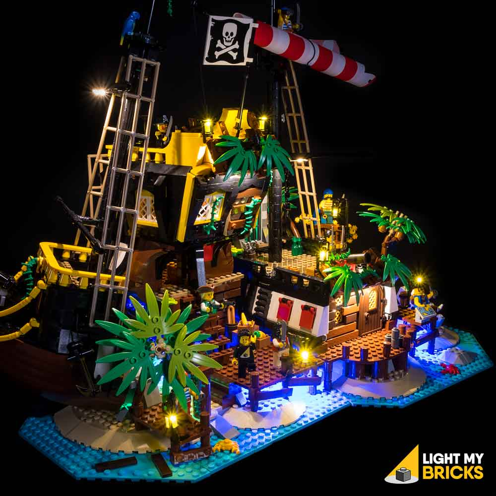 LIGHT KIT FOR LEGO 21322 PIRATES OF BARRACUDA BAY LEGO Ideas Lighting LEGO 21322