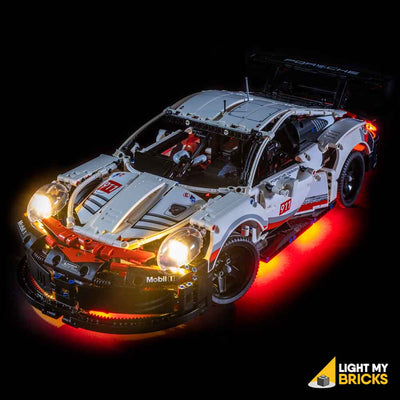LEGO LED Light Kit for 42096 Porsche 911 RSR Top