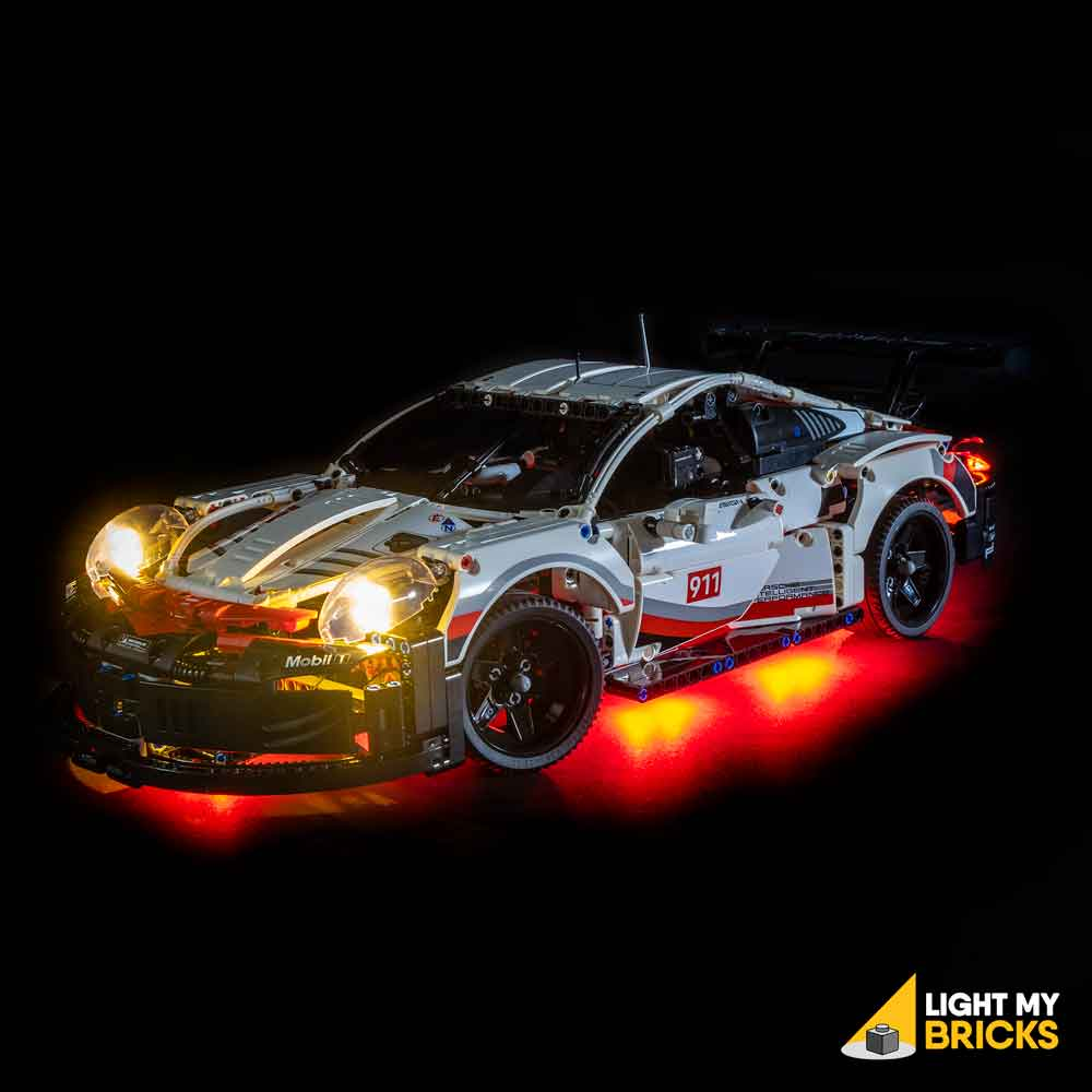 LEGO LED Light Kit for 42096 Porsche 911 RSR Side
