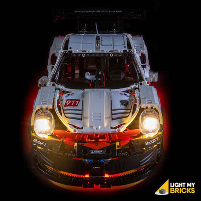 LEGO LED Light Kit for 42096 Porsche 911 RSR Top View