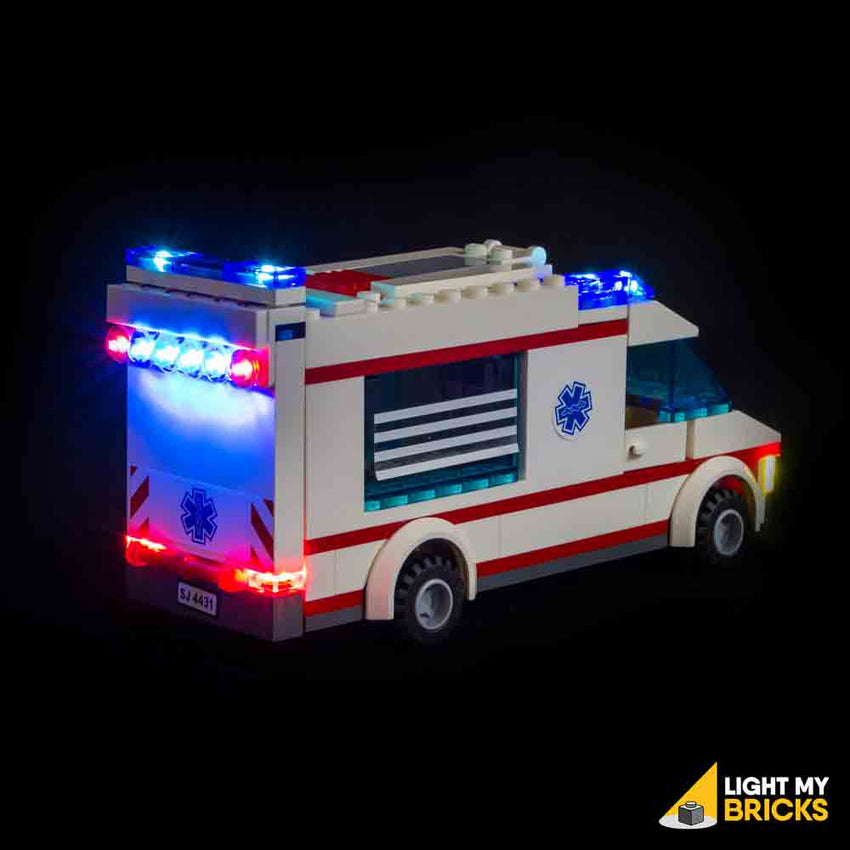 City ambulance 4431 lego light kit light my bricks - Lego ambulance ...