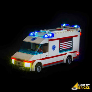 LEGO LED Light Kit for 4431 City Town Ambulance Front