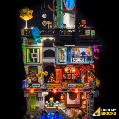 LEGO LED Light Kit for 70620 Ninjago City Close Up