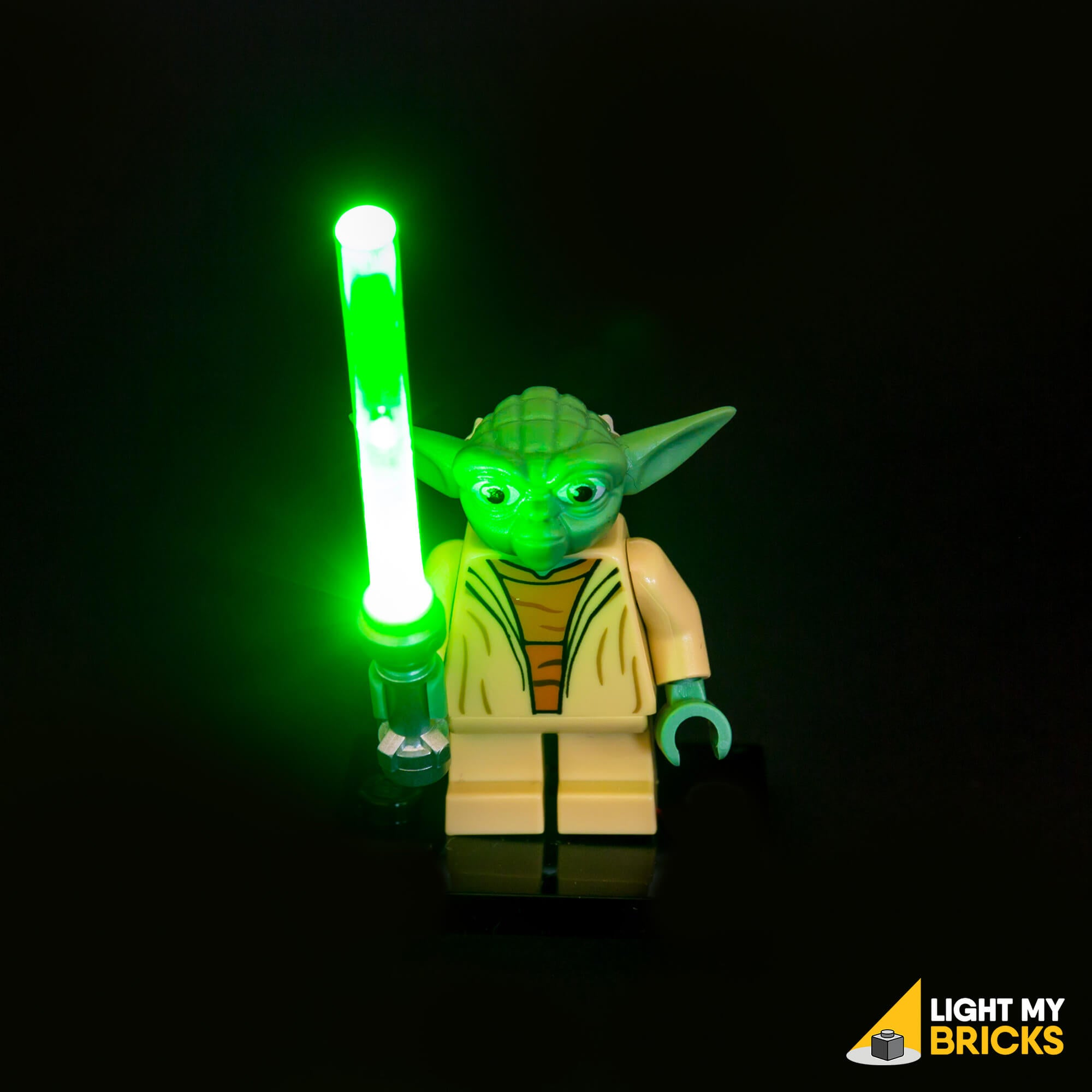 Light My Bricks LEGO Lighting Component - LEGO Lightsaber Green Activated