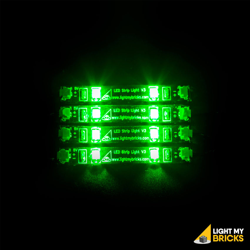 Green Led Light Strips Interesting LED Strip Lights Green 60 Pack LEGO Lighting Light My Bricks