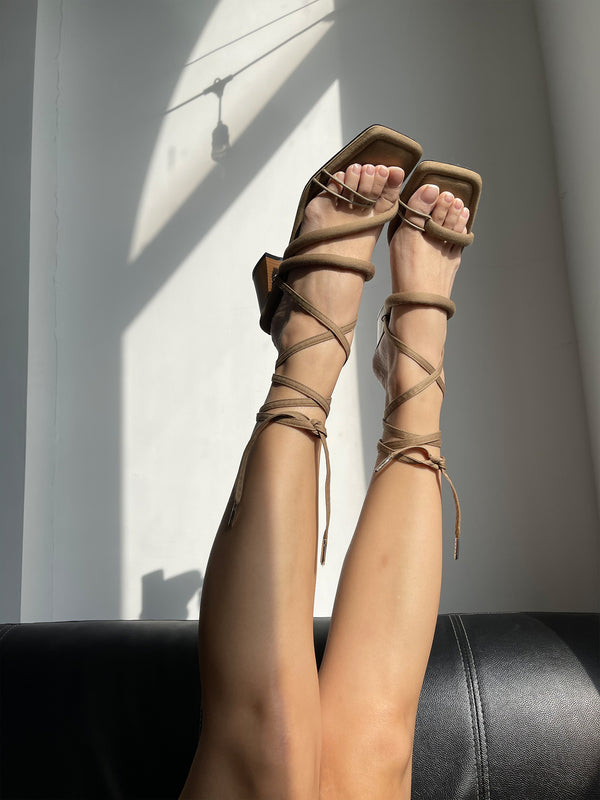 Ankle Straps - Brown